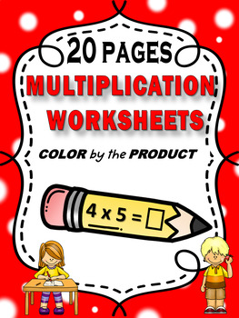 Color by Number - Multiplication Homework  CCSS.MATH.CONTENT.3.OA.A.1