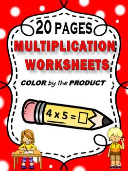 Color by Number - Multiplication Homework