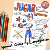 Color by verb conjugation Jugar Spanish irregular stem changing verb no prep