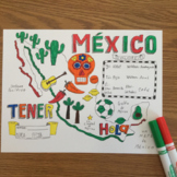 Color by verb conjugation ~TENER ~Spanish verbs ~NO PREP ~Mexico verb practice