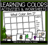 Color Flashcards Matching Words & Pictures (Memory Game or Pocket Chart Sorting)