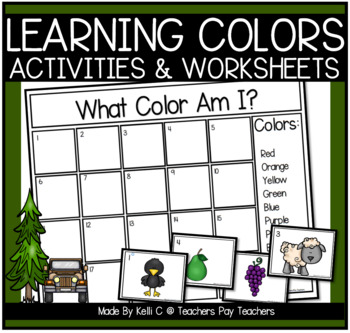 Color Flashcards (Color Word and Matching Picture)