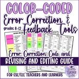 Colour-coded Error Correction Code/Feedback Cards (Writing
