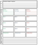 Color coded Graphic Organizer for writing a paper