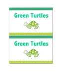 Color-coded animal themed reading group labels
