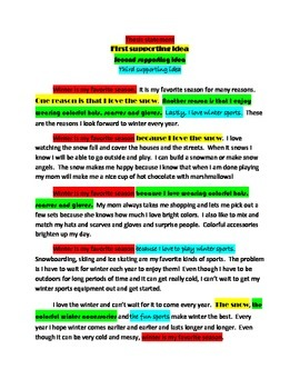 Color-coded mentor essay