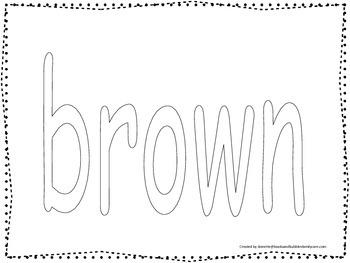 color collage spelling spell and color the word brown preschool worksheet. Black Bedroom Furniture Sets. Home Design Ideas