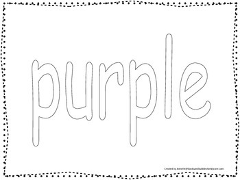 """Color collage spelling.  Spell and color the word """"purple"""""""