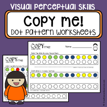 Color copy practice worksheets - visual perceptual skills