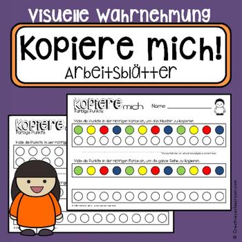Farben kopieren - Arbeitsblätter Visuelle Wahrnehmung - Ergotherapie
