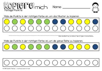 Colorful Visueller Motor Arbeitsblatt Elaboration - Kindergarten ...