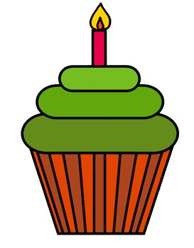 Color cupcakes clip art