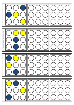 Color dot copy practice 3x3 design - key ring task cards - Occupational Therapy