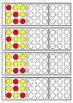 Color dot copy practice 3x3 design - key ring task cards -