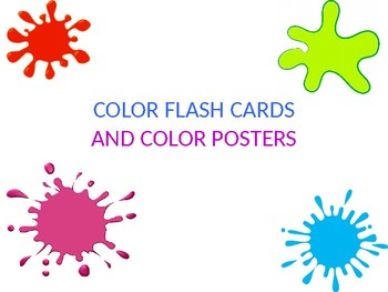 cat themed color decor- posters and flash cards