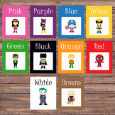 Color flash cards - Preschool/Pre-K - Colors - Color cards