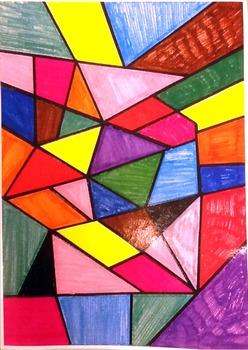 Color game board for rompecabezas