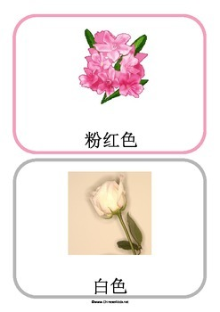 Color in Chinese Flashcards