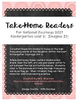 Color-in Readers to Accompany Unit 2 of the Kindergarten Journeys ELA Series
