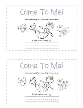 Color-in Readers to Accompany Unit 3 of the Kindergarten Journeys 2017 Series