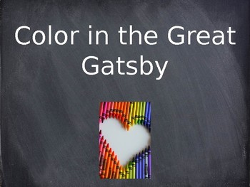 Color in The Great Gatsby