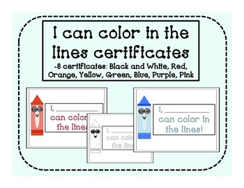 Color in the Lines Certificates