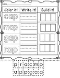 Color it, Write it, Build it -ap Word Family