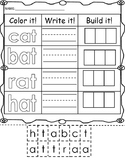 Color it, Write it, Build it -at Word Family Work