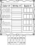Color it, write it, build it- an word family