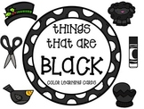 Color learning cards - BLACK