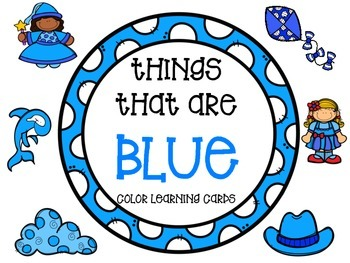 Color learning cards - BLUE