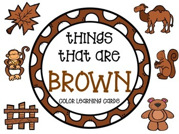 Color learning cards - BROWN