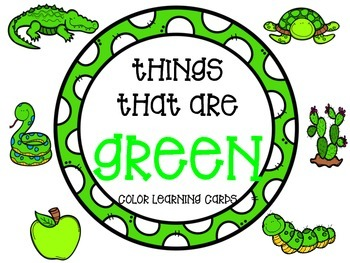 Color learning cards - GREEN