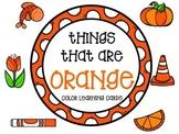 Color learning cards - ORANGE