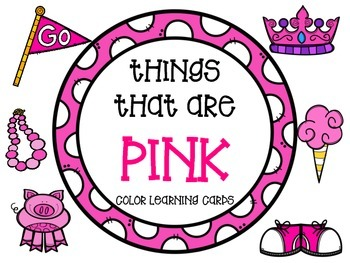 Color learning cards - PINK