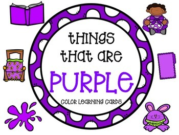 Color learning cards - PURPLE