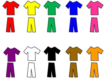 Color matching file folder clothing game