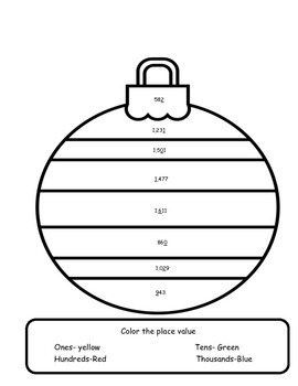 Color me Christmas Place Value