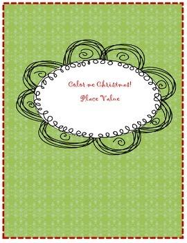 Color me Christmas Place Value