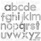 Color me in Alphabet Clip Art