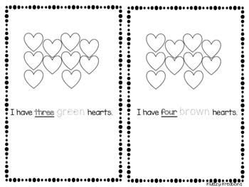 Color my heart easy reader book!