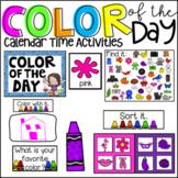 Color of the Day Calendar Companion Morning Meeting Ideas