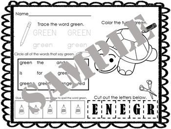 Color of the Day Worksheets