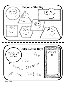 Color and Shape of the Week - Morning Meeting Special Education 10 weeks