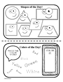 Pre-K Color and Shape of the Week / Morning Meeting Specia