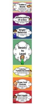 Color or Art Themed Behavior Clip Chart