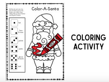 Color or Build A Santa FREEBIE