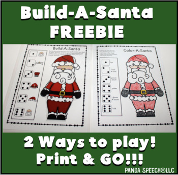 Color or Build A Santa FREEBIE