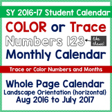 Teach Calendar Skills - Color or Trace Calendar Numbers -