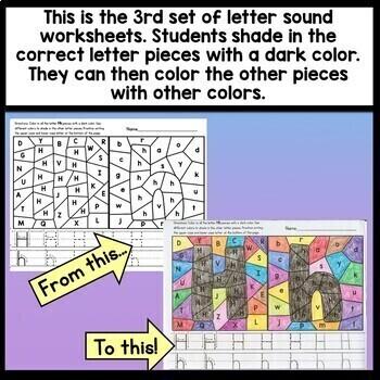 Letter Sounds Worksheets {26 Beginning Sounds Worksheets A-Z!}